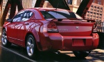 2008 Dodge Avenger R-T Brochure Photo on City Bridge Inferno Red rvl (Stitched) 1600A
