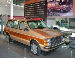 1984 Plymouth Voyager LE with Woodgrain Trim Serial No. 1 'LAI 001' Beige Crystal Coat fvr (WPC Museum) CL