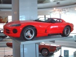 1989 Dodge Viper RT-10 Concept Car on Museum Vehicle Display Tower svl (WPC Museum) F