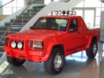 1989 Jeep Customized Commanche Pickup Red fvl 1st Floor (WPC Museum) F